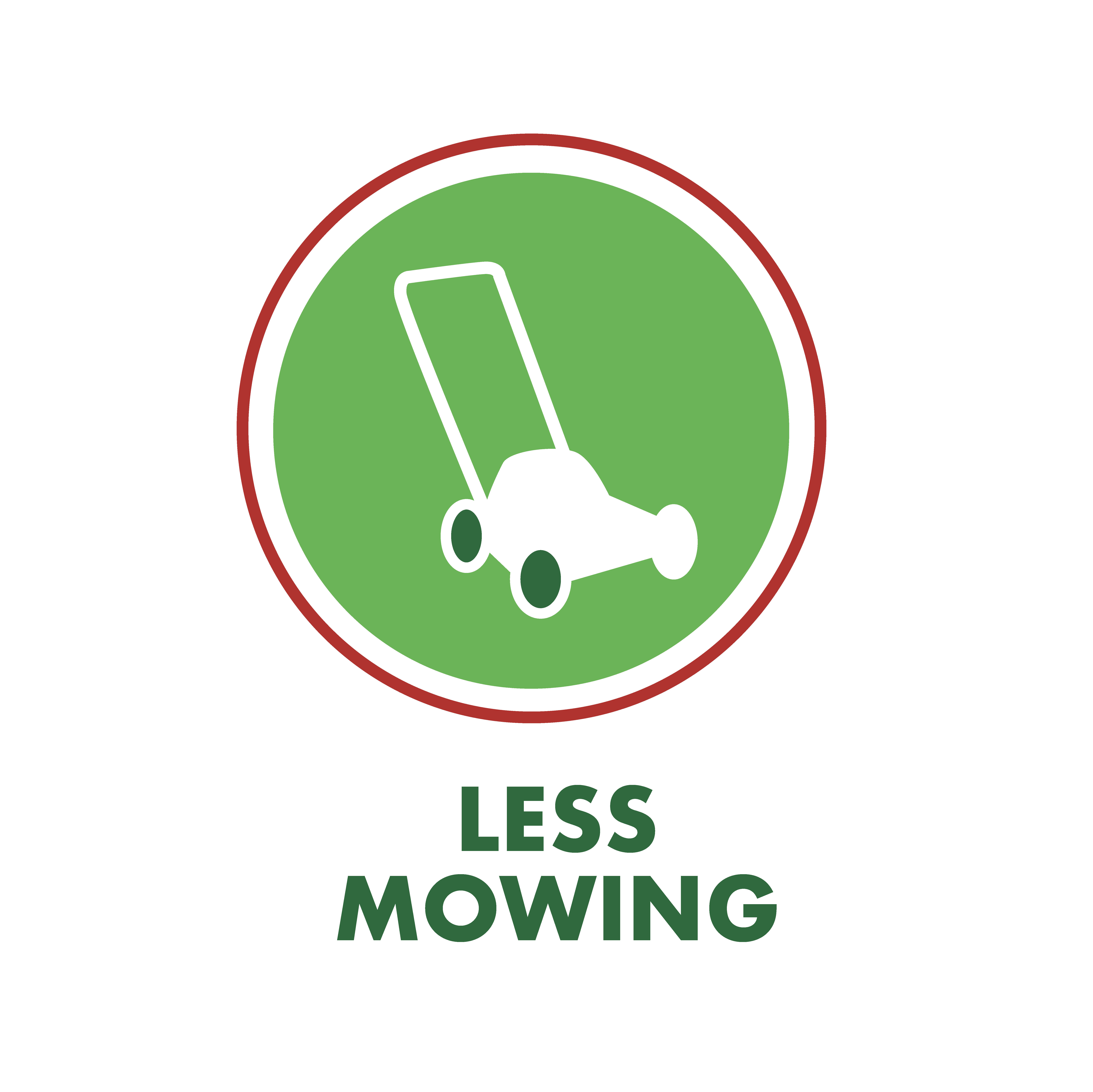 Less mowing